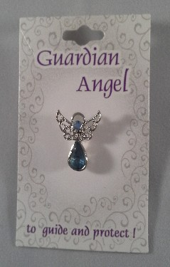 Guardian Angel Crystal Pin: Blue